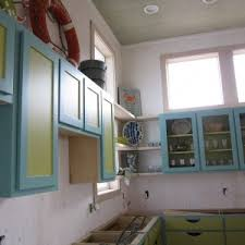 awesome beachy brights kitchen come with rectangle shape blue