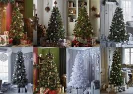 traditional christmas trees evergreen luxury snow flock slim