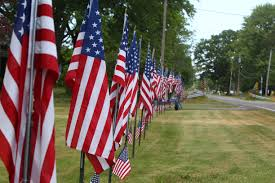 Memorial Day American Flag Wheatfield Farmhouse Proudly Plants 140 American Flags For Fourth
