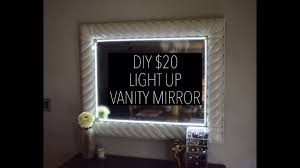 diy 20 light up vanity mirror with remote youtube