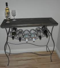 metal wine rack table iron wine rack console table with distressed wood top modern table