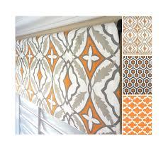orange taupe window valance orange valance curtain moroccan
