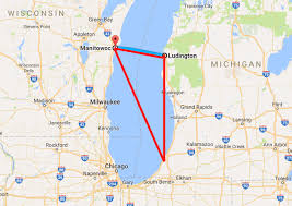 Lake Michigan Shipwrecks Map by How The Lake Michigan Triangle Became One Of The Most Haunted
