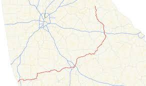 Interstate 95 In Georgia Wikipedia Georgia Highway Map My Blog Georgia Highway Map Stock Vector Art
