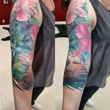female tattoo arm sleeves my tropical sleeve is finished artist damian robertson
