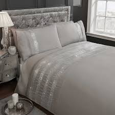 Diamante Bedroom Set Carly Modern Diamante Sparkle Duvet Cover Easy Care Bling Quilt