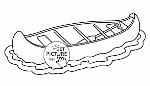 canoe coloring page for kids transportation coloring pages
