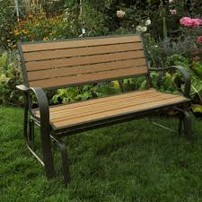 Faux by Lifetime Faux Wood Glider Bench