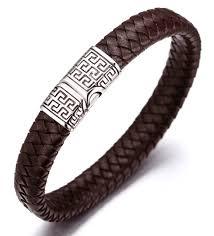 bracelet clasps magnetic images Halukakah quot solo quot men 39 s genuine leather bracelet classic style jpg