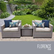 Outdoor Wicker Patio Furniture Sets Florence 3 Outdoor Wicker Patio Furniture Set 03a