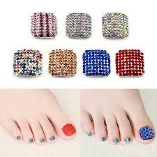 summer beauty toenails 3d chic toe nails metallic for foot nail