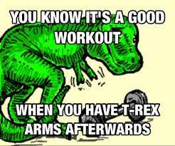 T Rex Arms Meme - t rex arms me after saturday s workout other pinterest arms