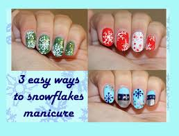 three easy snowflake nail designs for short nails youtube