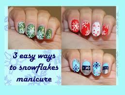 three easy snowflake nail designs for short nails youtube