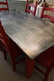 Table Top Ideas Diy Zinc Top Kitchen Table Zinc Table Create And