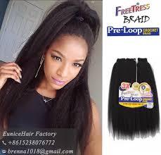 types of freetress braid hair freetress braid pre loop yaki straight hair extension synthetic