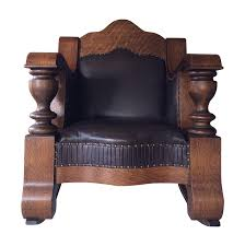 Mission Oak Rocking Chair Antique Mission Style Oak U0026 Leather Rocking Chair Chairish