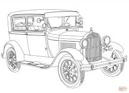 1928 ford model a coloring page free printable coloring pages