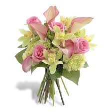 pink calla pink calla and orchid bouquet flowers of fort lauderdale