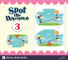 game template of spot the difference illustration stock vector art