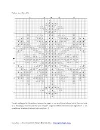 snowflake ornament free cross stitch pattern