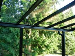 Glass Pergola Roof by Glass And Aluminum Patio Covers Primeline Industries Maple Ridge
