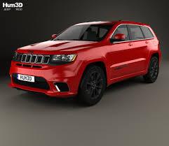 jeep hawk track jeep grand cherokee wk2 trackhawk 2017 3d model hum3d
