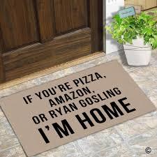 decorative floor mats home doormat entrance floor mat if you u0027re pizza amazon or ryan