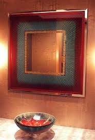 Etched Bathroom Mirror Mirror Decorative Bathroom Mirrors Vibrance Decorative