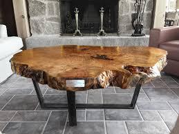 live edge round table live edge coffee table live edge table custom solid black walnut