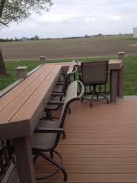 Composite Patio Furniture Our New Composite Deck And It Has A Bar Built In Deck