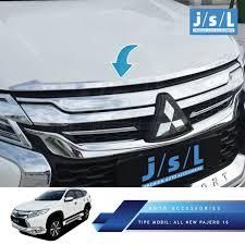 All New Pajero Sport List Kap Mobil Depan Molding Chrome all new pajero sport list kap mobil depan molding chrome
