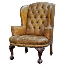Wing Chairs Design Ideas Antique Leather Wingback Chair Antique Master Leather