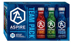 aspire sports drink assorted team pack rush ice fire 18 pack