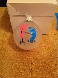 personalized pregnancy gender reveal baby ornament on etsy 8 00
