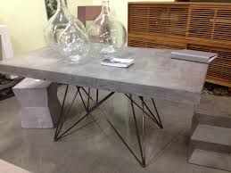 rectangle stone dining room table in grey theme with black metal rectangle stone dining room table in grey theme with black metal legs on the floor