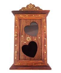 wooden heart design key box 6 hooks u2013 woodde com