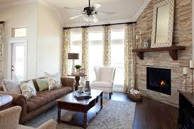 Curtains For Large Picture Window Large Window Curtains Family Room Traditional With Brown Sofa