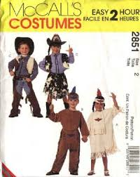 Girls Size 5 Halloween Costumes Mccall U0027s Sewing Pattern 2851 Boys Girls Size 5 6 Cowboys Cowgirl