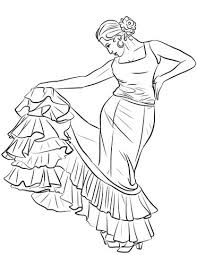 spanish dancer coloring page free printable coloring pages