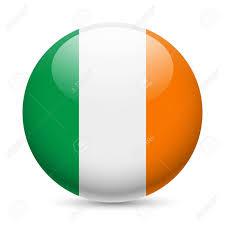 Irrland Flag Flag Of Ireland As Round Glossy Icon Button With Irish Flag
