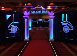 prom backdrops blackout theme prom decor