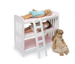 amazon com badger basket triple doll bunk bed with ladder and