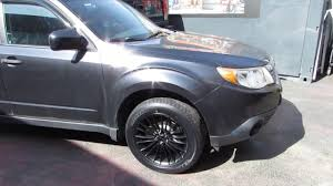 subaru crosstrek custom wheels 2010 subaru forester with 17 inch black rims u0026tires youtube
