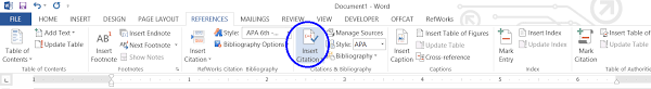 how to cite a table in apa creating a reference list and in text citations in microsoft word