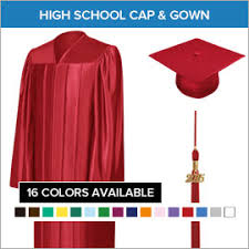 cap and gown for high school high school graduation cap gown and tassels gradshop