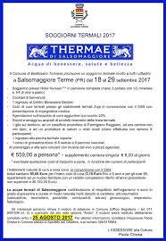 soggiorni termali soggiorni termali 2017 comune di baldissero torinese