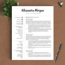 Adobe Indesign Resume Templates Professional Resume Template The Alexandra