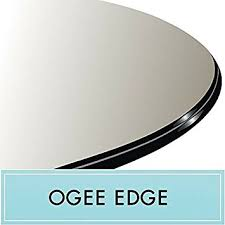 54 glass table top amazon com 54 round tempered glass table top 1 2 thick ogee edge