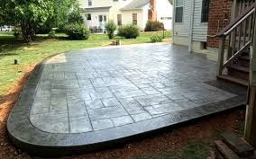 Stamped Concrete Patio Diy Stamped Concrete Patio U2013 Massagroup Co